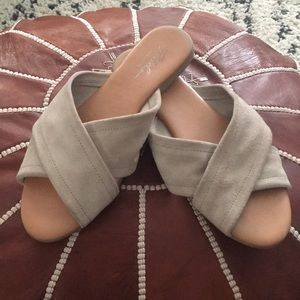 Taupe Suede X Band Sandal